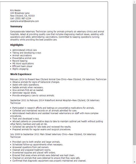 resume vet tech resume examples stunning vet tech resume