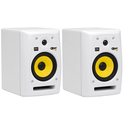 Krk Vxt 4 White studio monitors at education