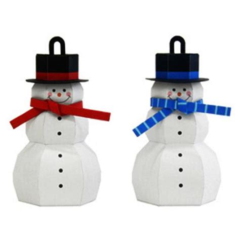 Papercraft Snowman - 35 crafts handmade snowman decorations and