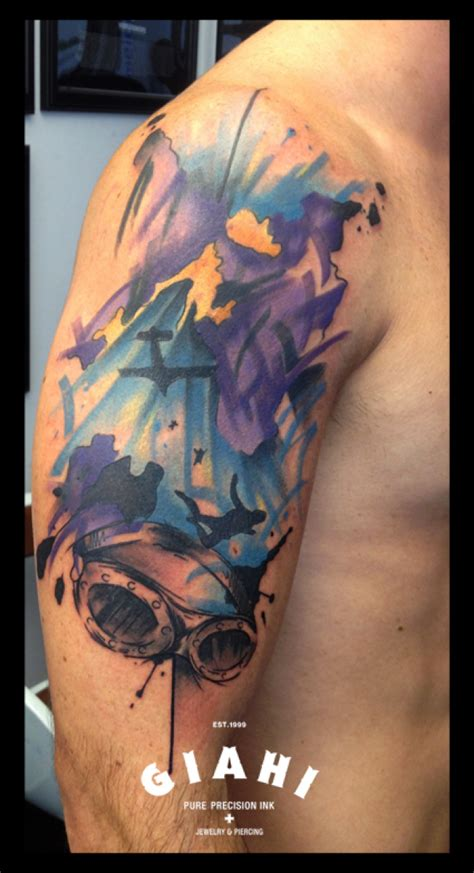 night sky tattoo sky bomber by live two best ideas