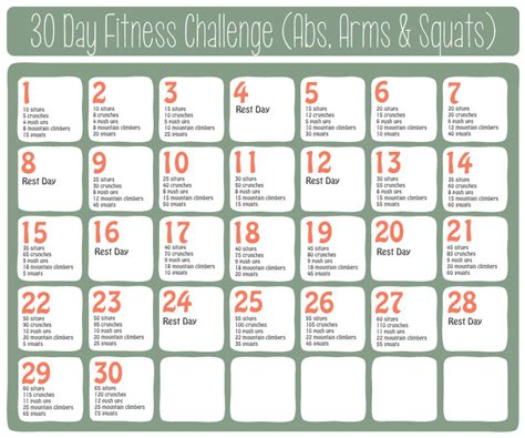 30 day fitness challenges for search results for free printable 30 day fitness