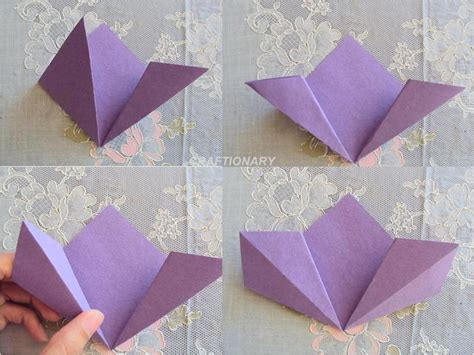Easy Paper Origami Flower - extremely easy flower origami 2016