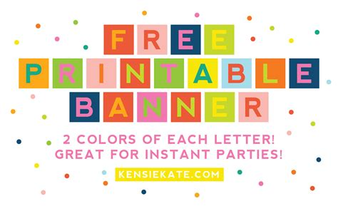 printable letters for banner hi there free printable banner kensie kate