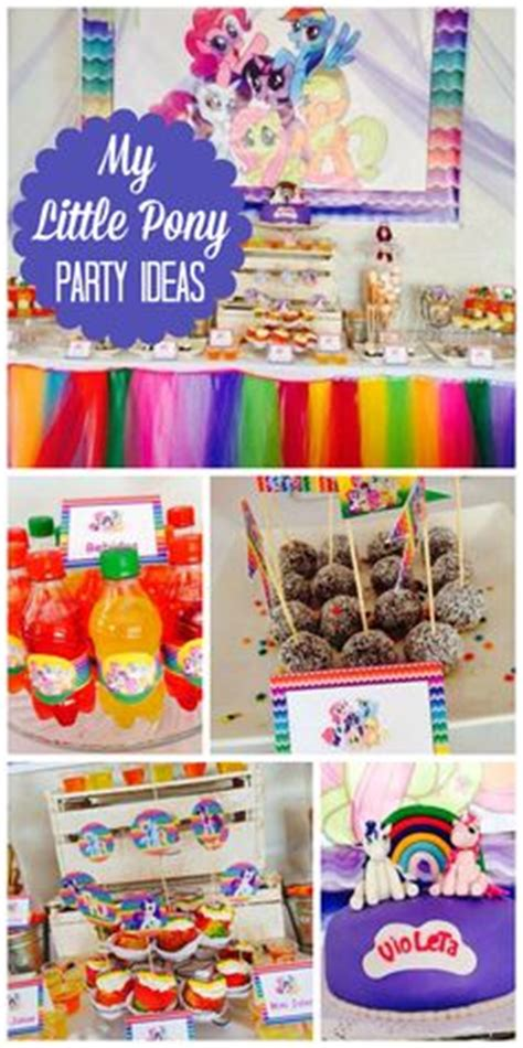 pony parties make a great birthday treat for kids 1000 images about my little pony rainbow dash party