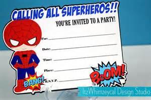 12 blank superhero birthday invitations drevio