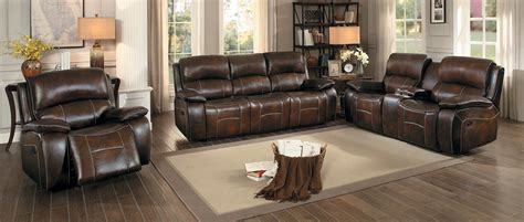 top grain leather sofa set homelegance mahala reclining sofa set brown top grain