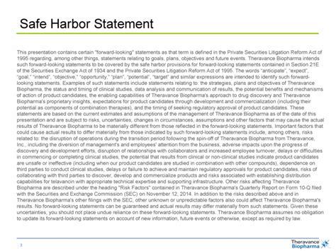 Graphic Safe Harbor Statement Template