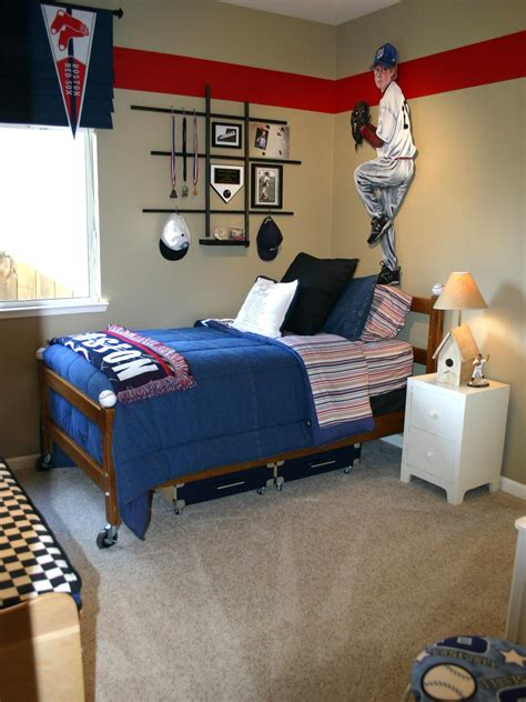 lovely Baseball Bathroom Decor #1: RMS_michdoug1-baseball-boys-bedroom_s3x4.jpg.rend.hgtvcom.1280.1707.jpeg