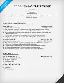 Advertising Agency Sle Resume by Best Photos Of Marketing Sales Representative Resume