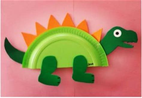 Dinosaur Paper Plate Craft - dinosaur craft idea for crafts and worksheets for