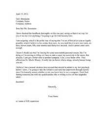 Resignation Letter Sle Better Offer Received Better Offer Resignation Letter