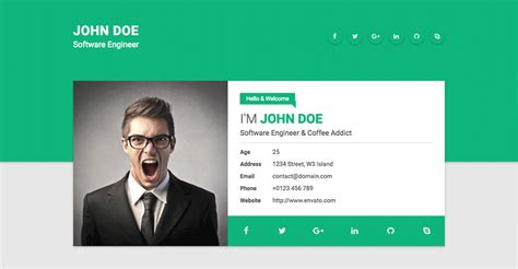 gallery of 20 top cv website template designs for you resume