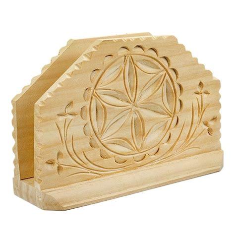 wood pattern napkins polish art center hand carved wooden napkin holder 5 25 quot