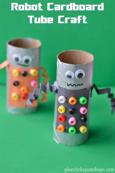 robot craft for easy robot toilet paper roll craft cardboard and