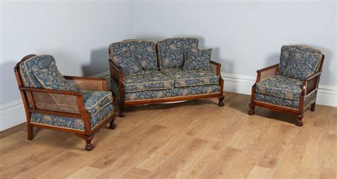 bergere sofa george v three piece mahogany cane bergere couch settee