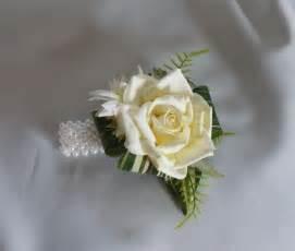 wrist corsage bracelet prom wedding wrist corsage on a pearl bracelet