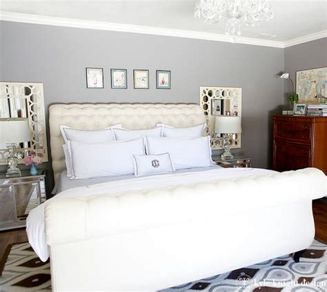 Mirrored Wall Sconces For Candles Gray And Ivory Bedroom Eclectic Bedroom Dallas By