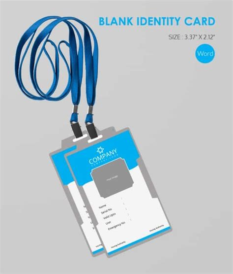 id name card design 30 blank id card templates free word psd eps formats