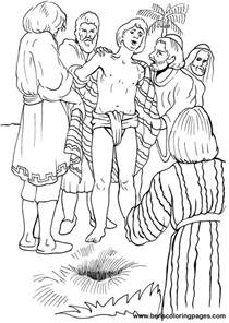 joseph coloring pages free coloring pages of joseph sold into slavery