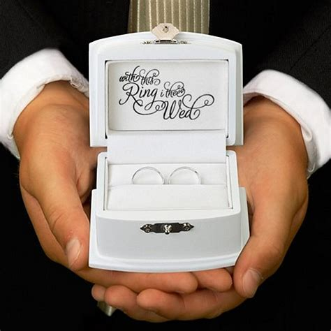 wedding ring box for ring bearer with this ring wedding ring bearer box