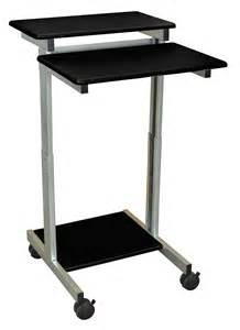 Adjustable Height Stand Up Computer Desk Luxor Standup 24 B Adjustable Height Stand Up Workstation
