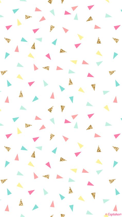 pattern tumblr wallpaper iphone pink mint turquoise gold mini triangle confetti iphone