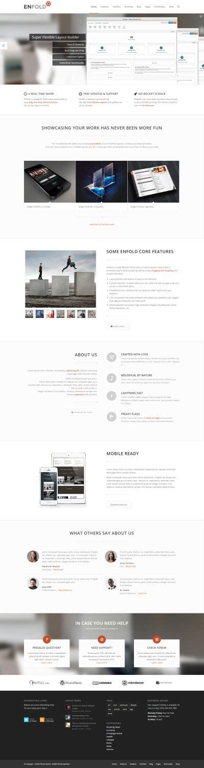 enfold theme blog demo enfold theme review themeforest read b4 buy