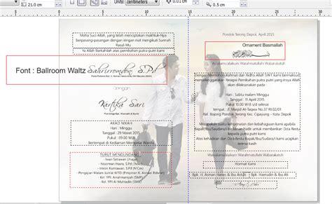 cara membuat undangan dengan corel draw pdf cara membuat undangan pernikahan elegan lipat 2 learning