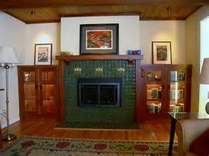 Craftsman fireplace mantel traditional living room seattle by