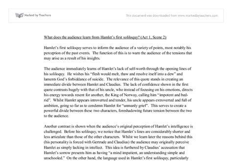 Hamlet Critical Analysis Essay by Hamlet Critical Essay