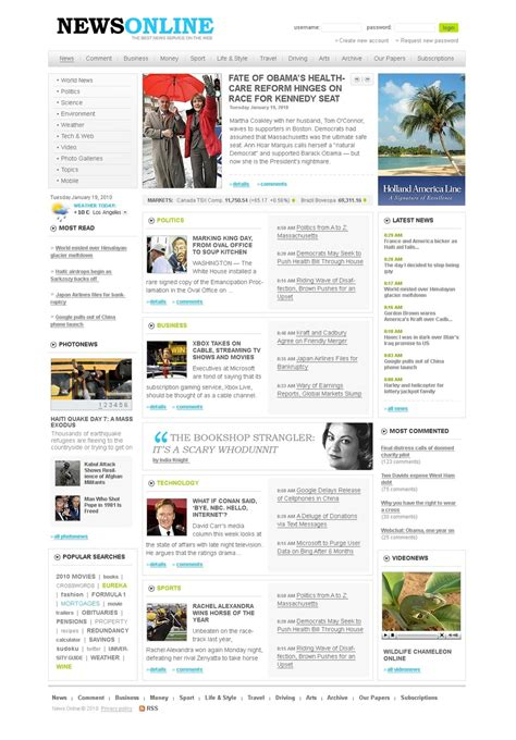 templates for portal website news portal website template 27777