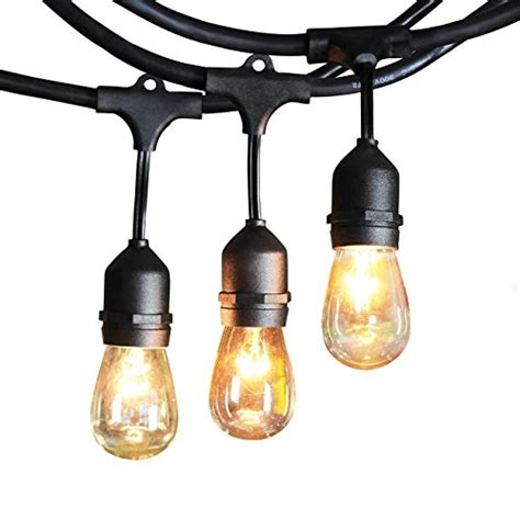 Outdoor String Light Sockets Outdoor String Lights With 10 Dropped Sockets Shine Hai Import It All