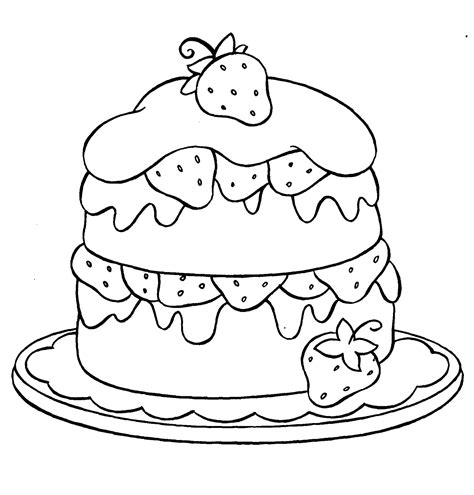 cake with a delicious strawberry coloring book pages cupcake strawberry coloring page ice cream cupcakes