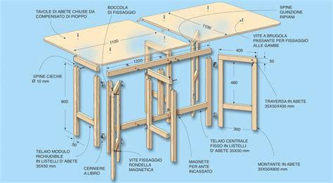 costruire un tavolo in legno fai da te tavolo pieghevole autocostruito in legno bricoportale it