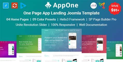 joomla landing page template app template archives free nulled themes