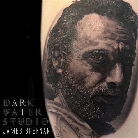 rick james tattoo rick grimes by brennan tattoonow