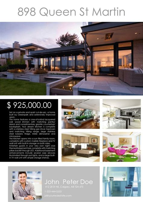real estate feature sheet template free 9 best real estate brochures images on