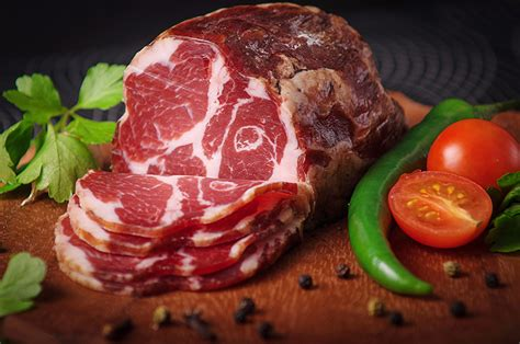 Wallpapers Tomatoes Ham Food Pepper Meat products