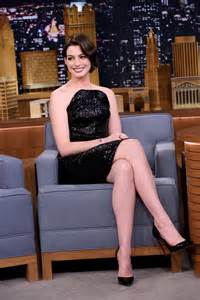 high heels show hathaway the tonight show starring jimmy fallon in nyc