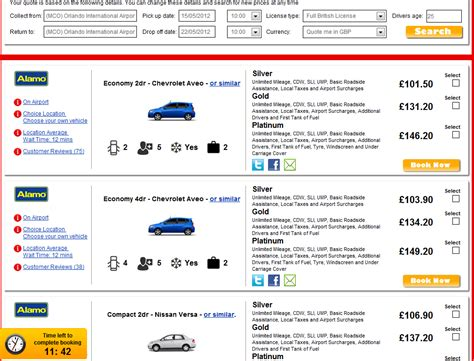 Car Types Alamo by Usrentacar Co Uk 174 Car Hire Usa 187 2012