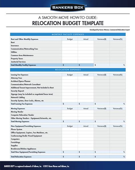 manage  budget  moving  office   template office moving organizer