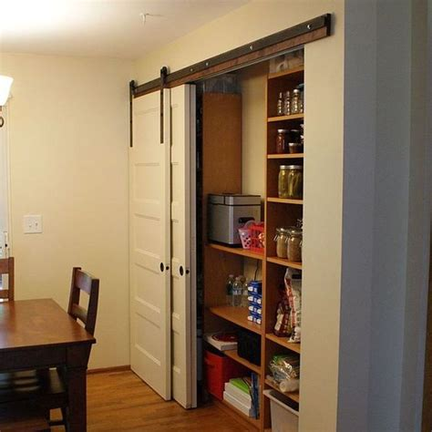 Sliding Barn Door Pantry New Pantry Build With Sliding Barn Style Doors Budgetupgrade Pantry Barn Style Doors And