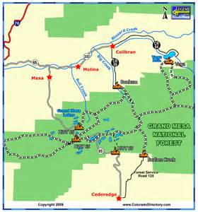 grand mesa snowmobile trails map colorado vacation directory