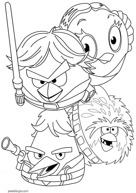 imagenes para colorear star wars dibujos de angry birds star wars para colorear