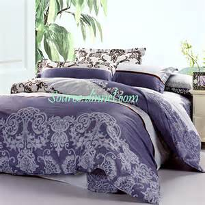 purple and grey comforter sets 4 luxurious vine collection purple gray cotton