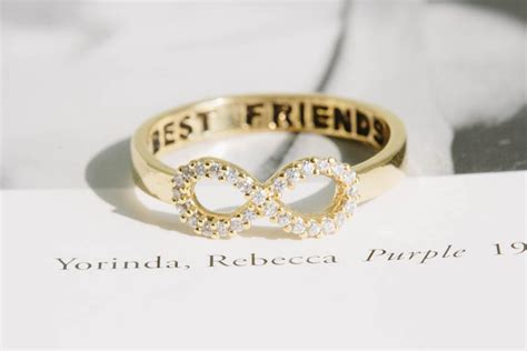 Best Friends infinity ring for bridesmaids   OneWed.com