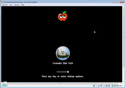 how to install bootloader mac os x yosemite on virtualbox
