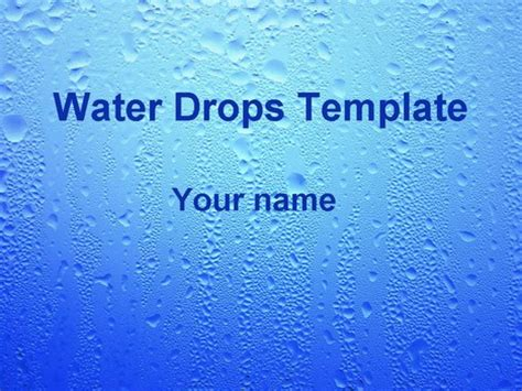 Water Drops Template Water Powerpoint Template