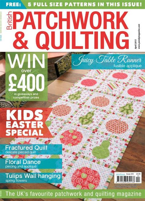 Patchwork And Quilting Magazine - patchwork and quilting april 2015 187 pdf magazines