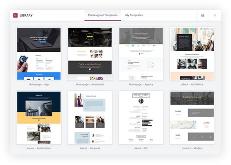 Elementor Page Builder For Wordpress Elementor Pro Templates